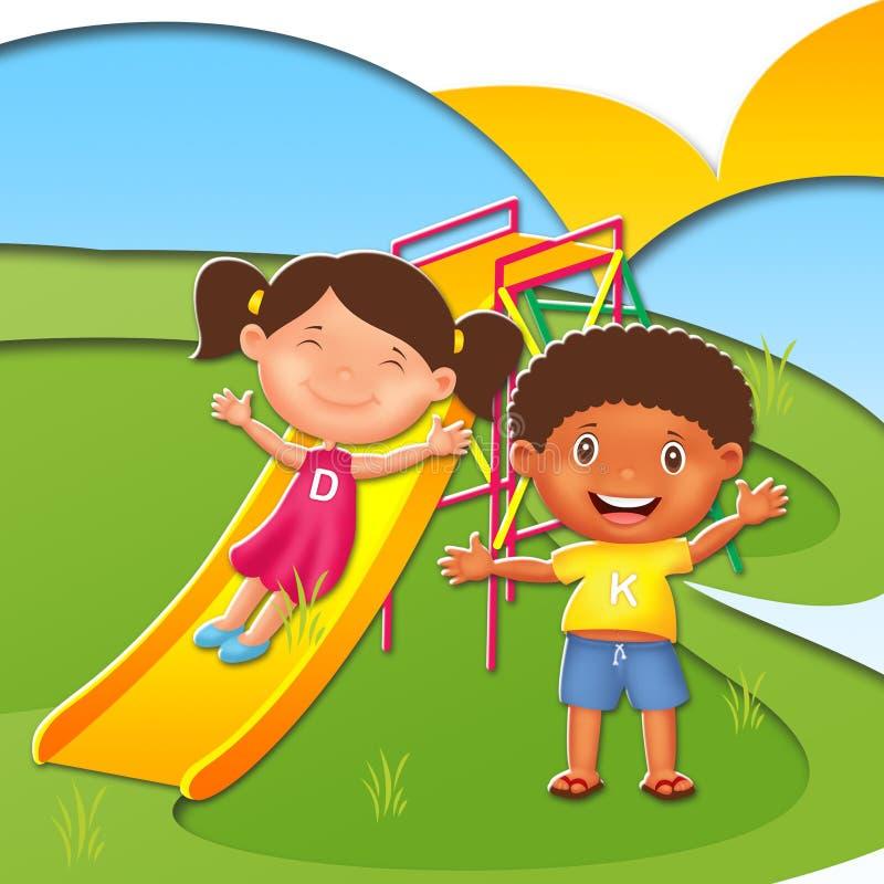 Kinderillustrations-Charakter lizenzfreies stockfoto