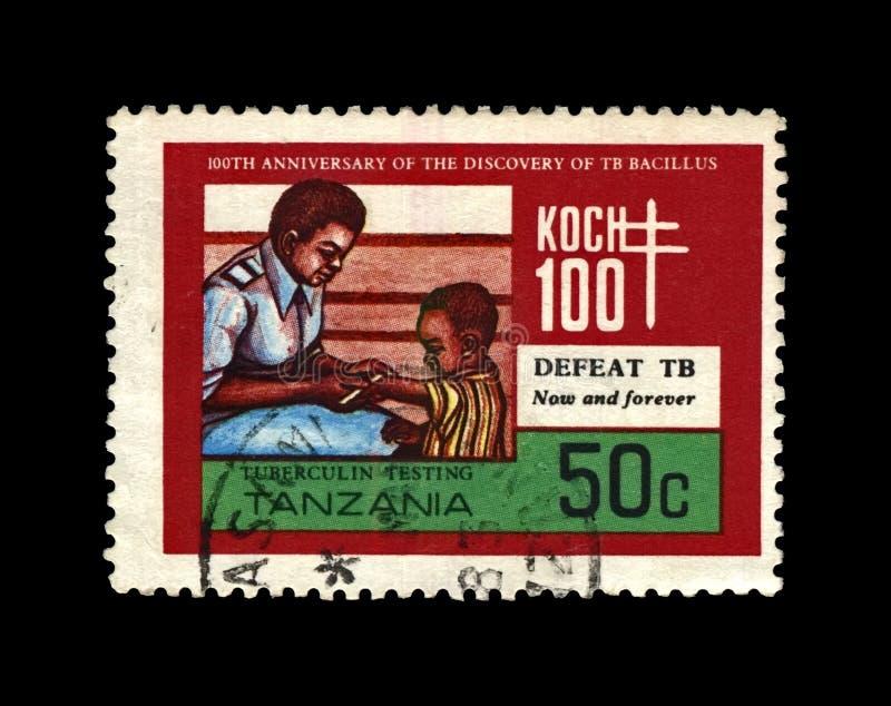 Kinderimmunisierung, Jahrestag des Tuberkulosewissenschaftlers, Forscher, Tuberkelbazillus Entdecker Robert Koch, Tansania, circa lizenzfreie stockbilder