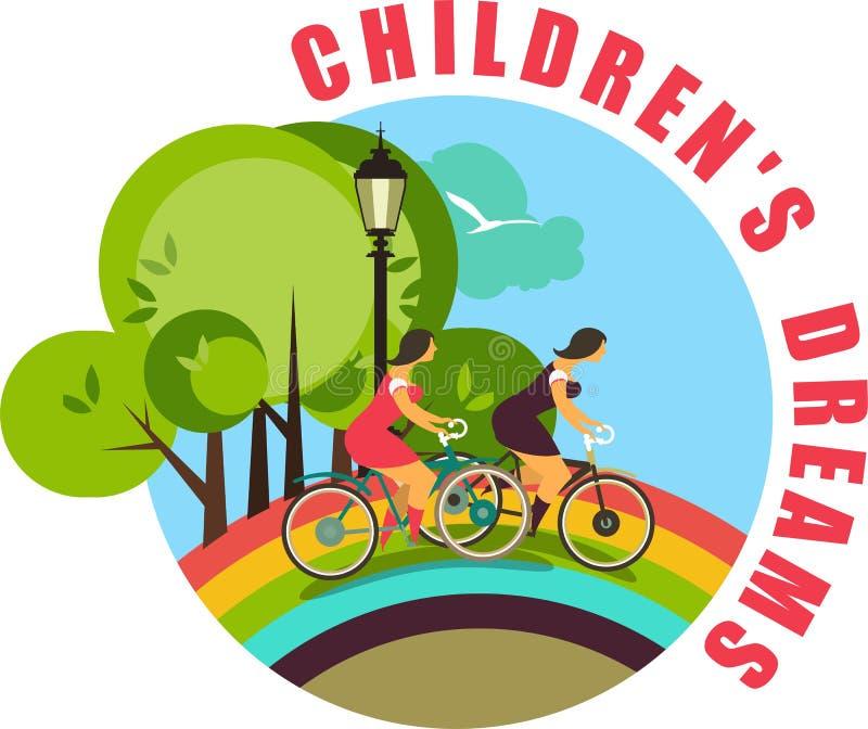 Kinderjaren stock illustratie