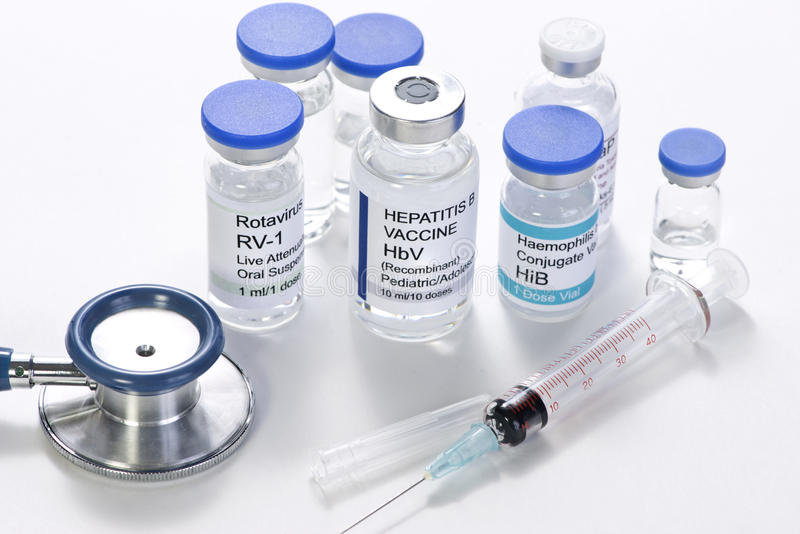 Kinderjarenvaccins stock foto's