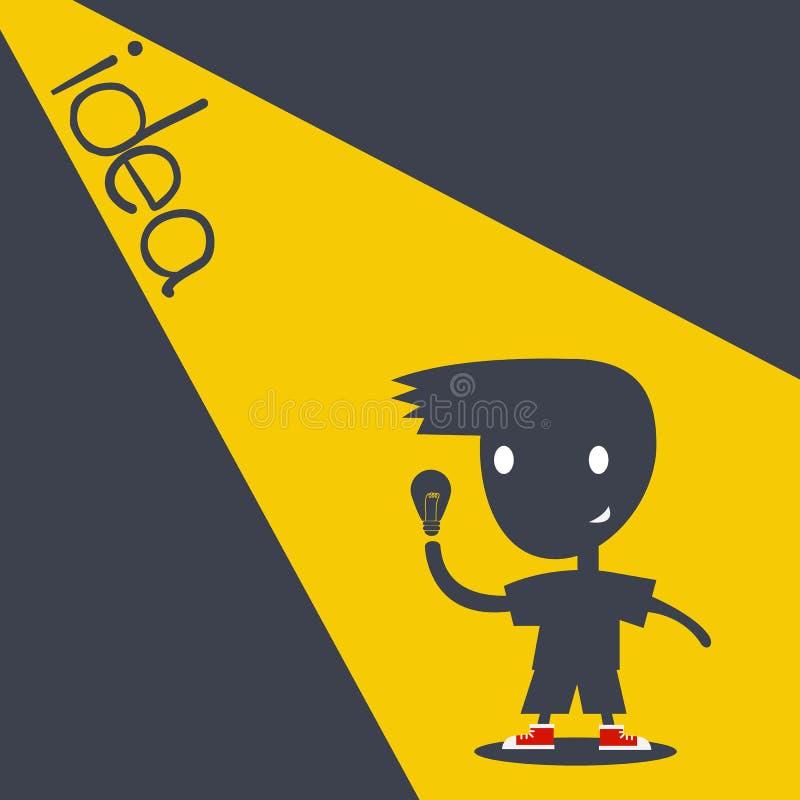 Kinderkarikatur-Schattenart, die Idee erhält lizenzfreie abbildung