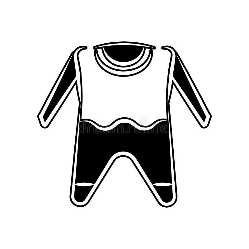 Kinderkleiderikone Element der Mutterschaft für bewegliches Konzept und Netz Appsikone Glyph, flache Ikone für Websiteentwurf und vektor abbildung