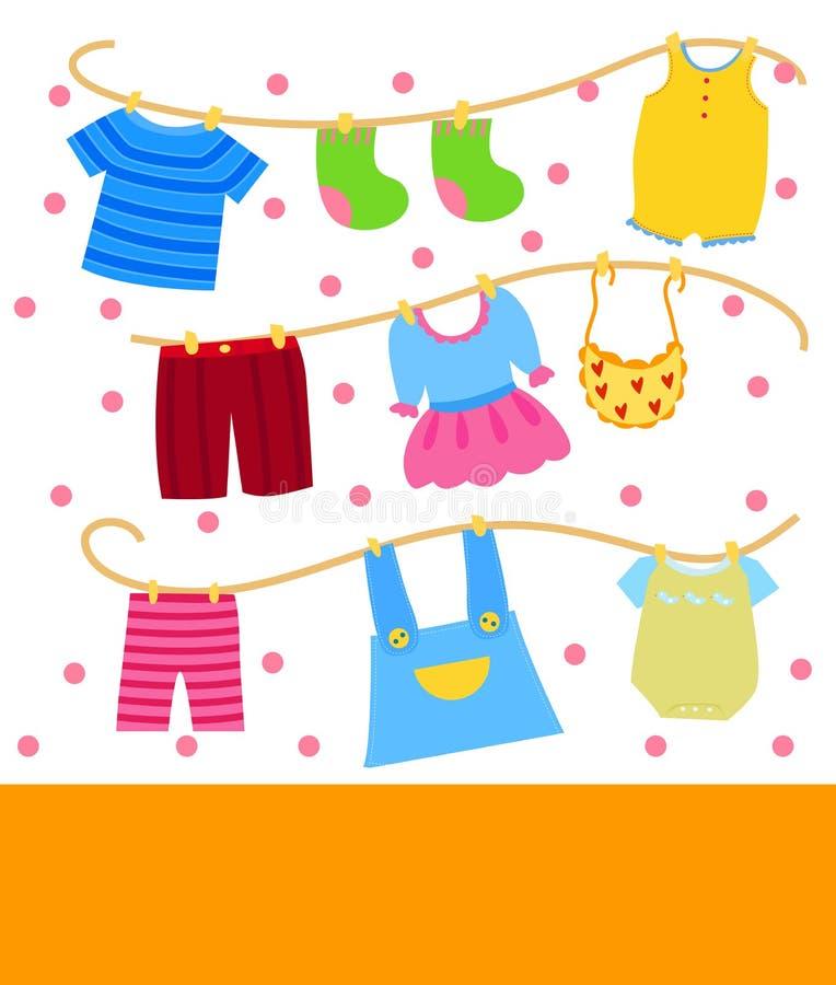Kinderkleidung stock abbildung