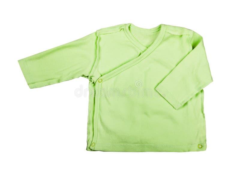 Kinderkleidung - Babygrünbodysuit-Kleidungsspielanzug des Kindes, Lagerschwelle lizenzfreie stockbilder