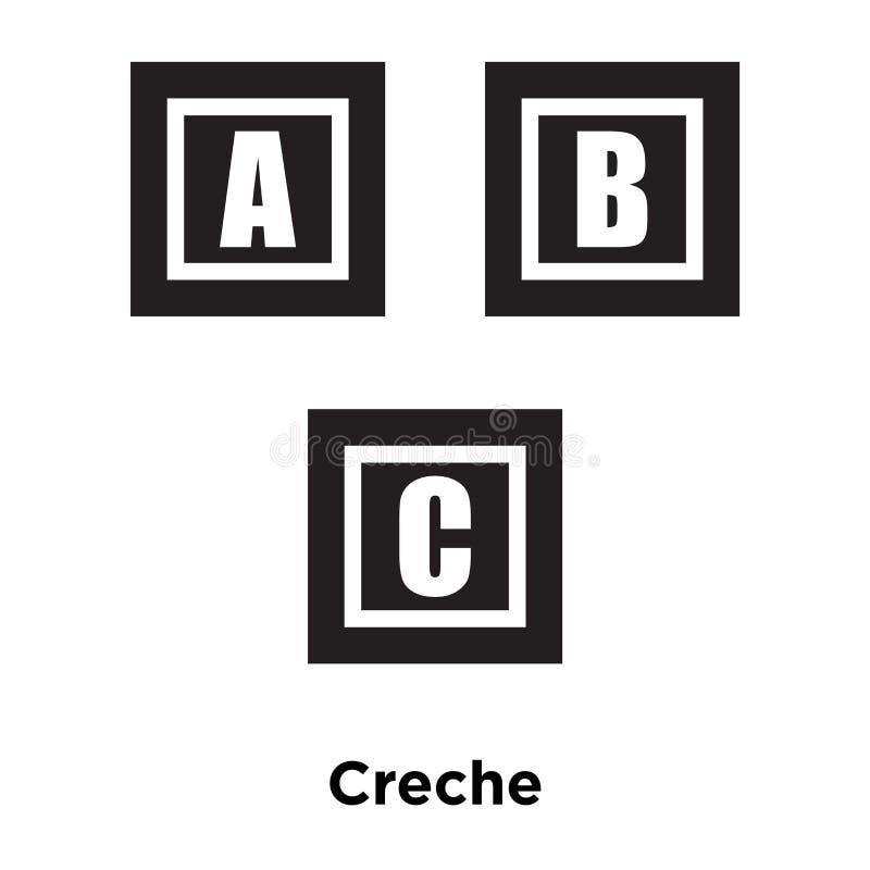 Kinderkrippenikonenvektor lokalisiert auf weißem Hintergrund, Logokonzept von stock abbildung