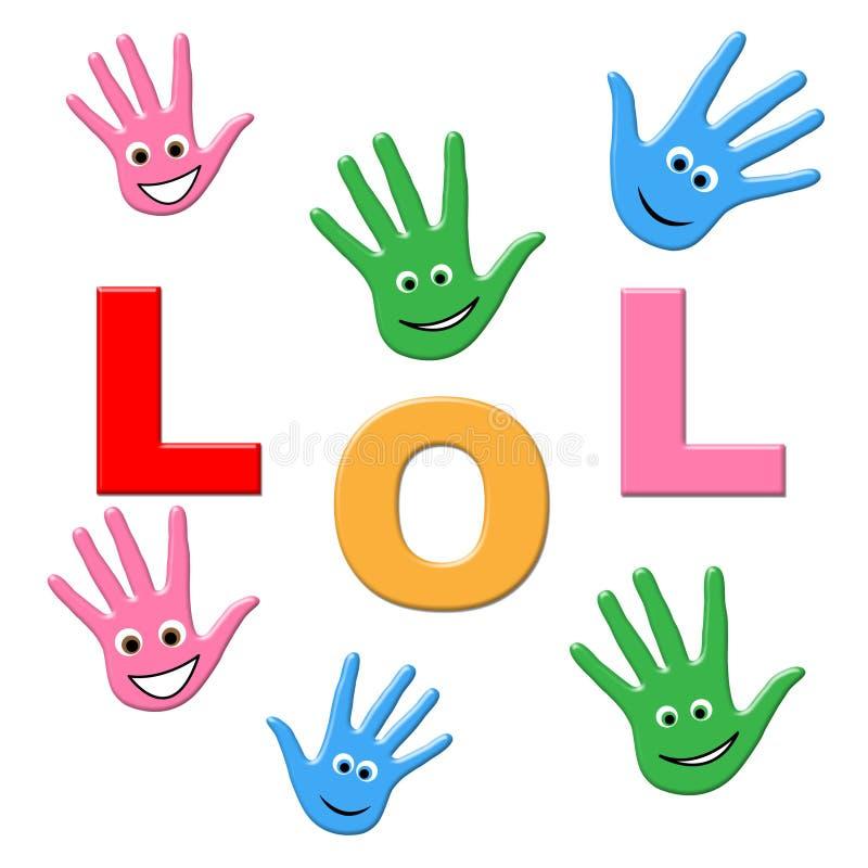 Kinderlachen zeigt die lachende Jugend und lacht stock abbildung