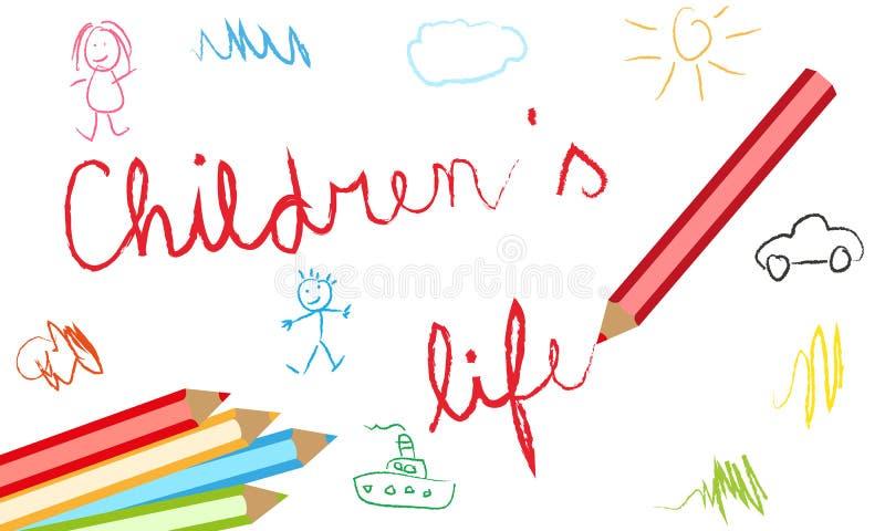 Kinderlebenhintergrund stock abbildung