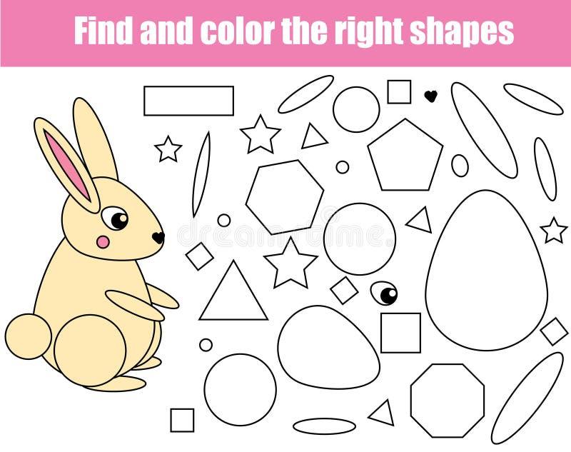 Kinderlernspiel Finden Sie die rigth Stücke und schließen Sie das Bild ab Puzzlespiel scherzt Tätigkeit Tierthema Lernen von Form vektor abbildung