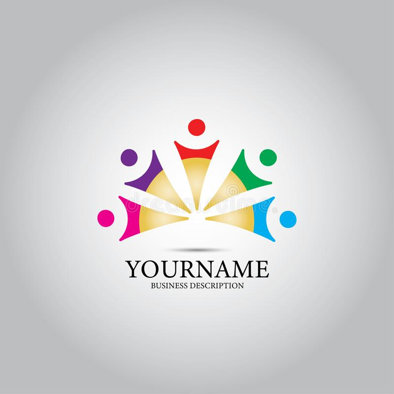 Kinderleute entwerfen Logo stock abbildung
