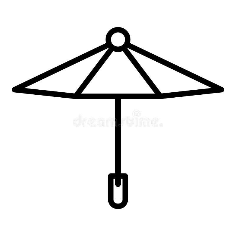Kinderregenschirmikone, Entwurfsart stock abbildung