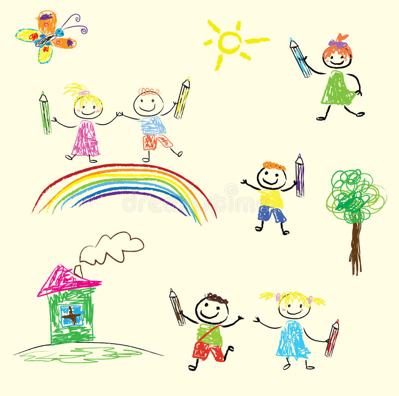 Kinderspiele vektor abbildung