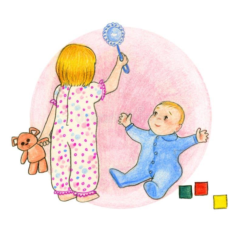 Kinderspielen vektor abbildung