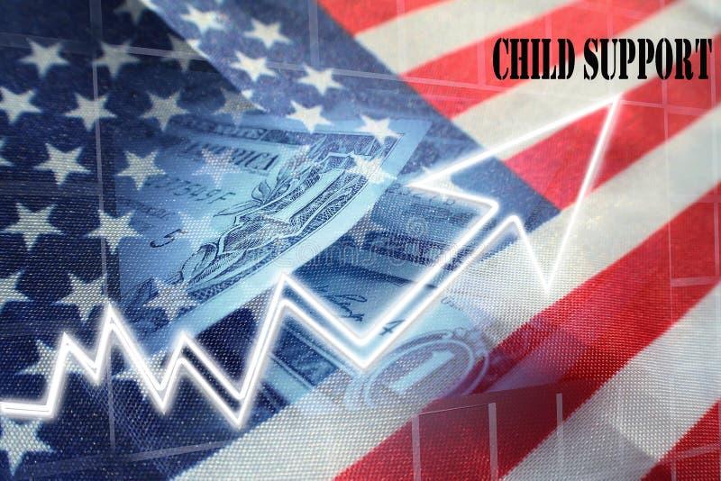 Kindersteun Kosten die hoog - de Foto van de kwaliteitsvoorraad toenemen royalty-vrije illustratie