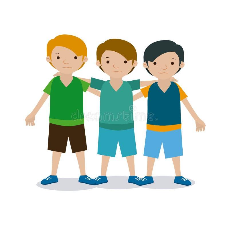 Kinderteam vektor abbildung