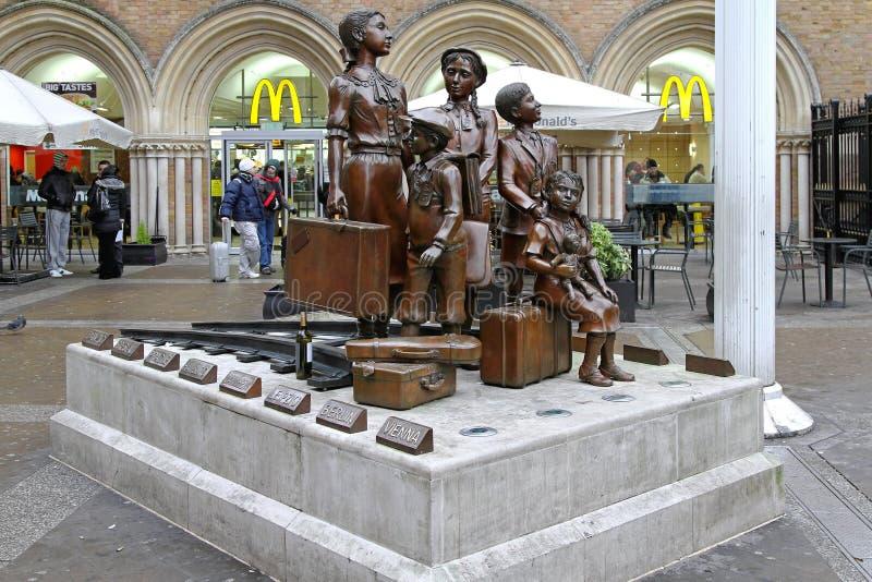 Kindertransport pomnik Londyn fotografia stock