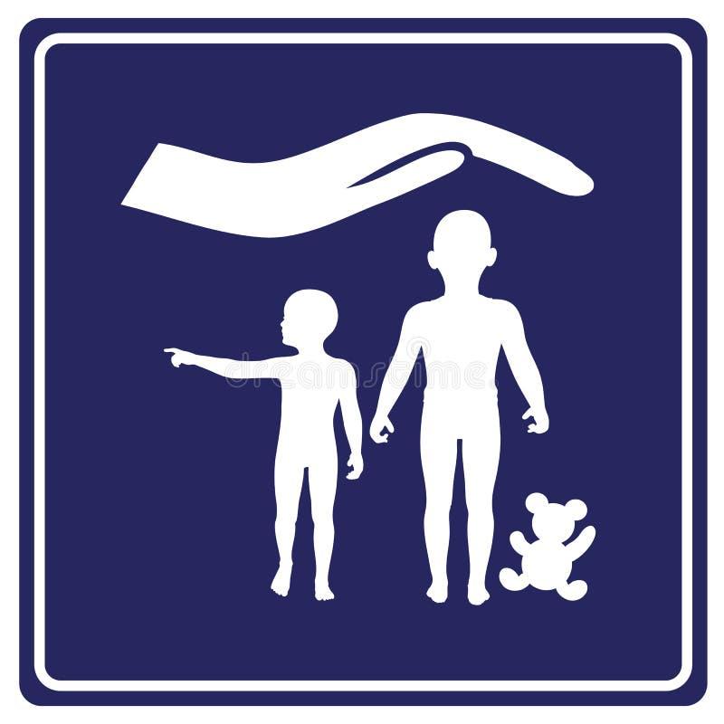 Kinderverzorging en Beschermingsteken royalty-vrije illustratie
