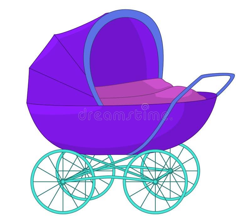 Kinderwagen royalty-vrije illustratie