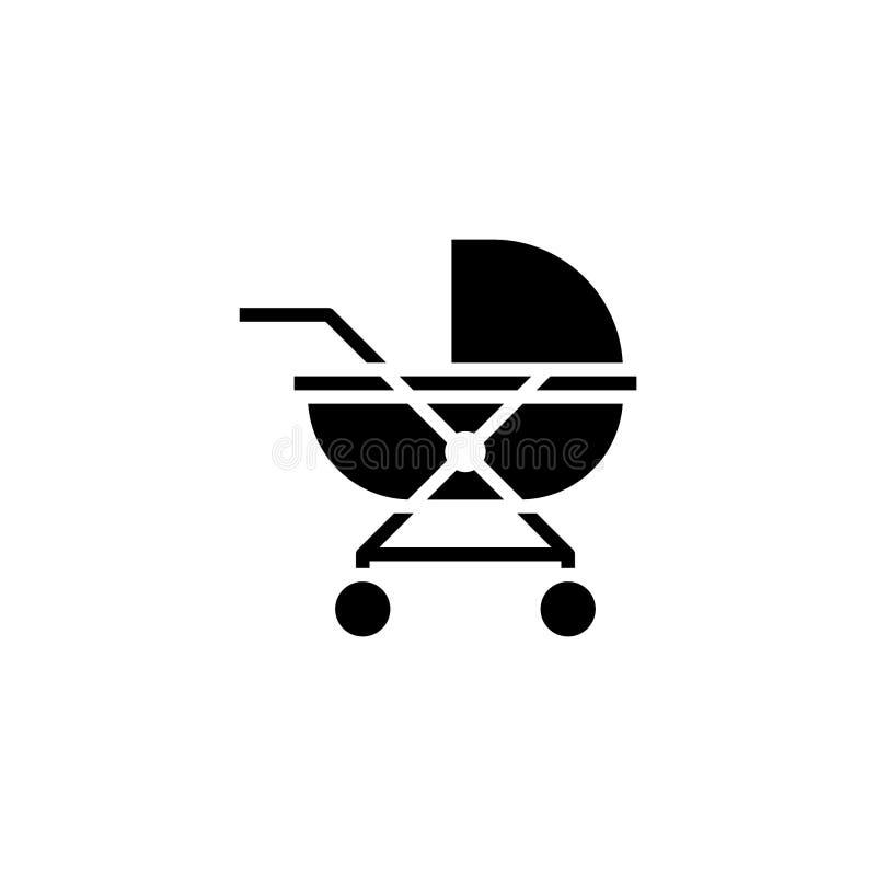 Kinderwagenikonenkörper Fahrzeug- und Transportikonenvorrat lizenzfreie abbildung