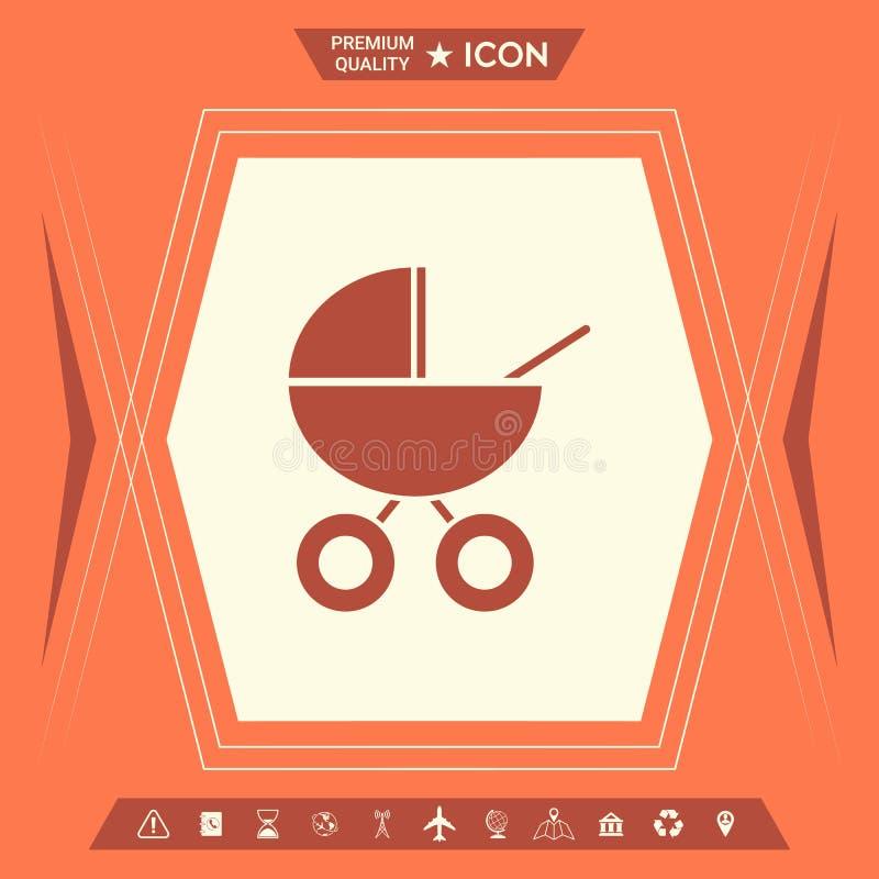 Kinderwagenpictogram vector illustratie