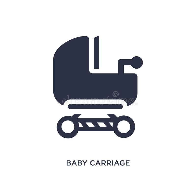 kinderwagenpictogram op witte achtergrond Eenvoudige elementenillustratie van Jong geitje en babyconcept vector illustratie