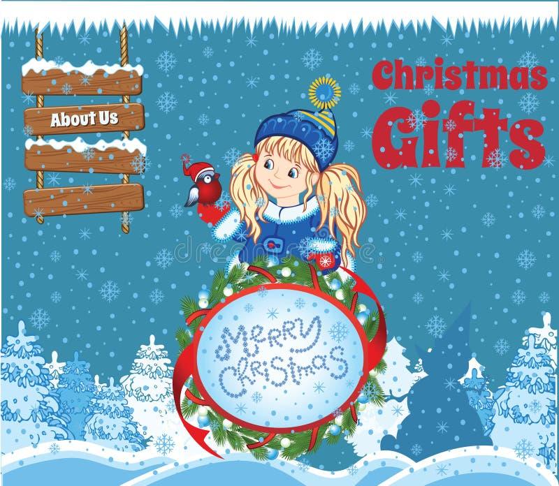 Kinderweihnachtsschablone lizenzfreie abbildung