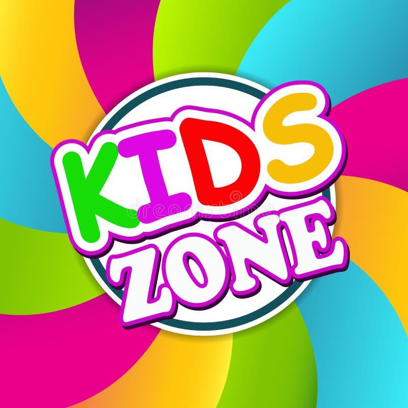 Kinderzonen-Fahnen-Design lizenzfreies stockfoto
