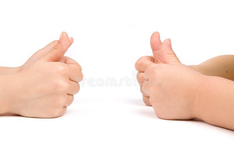 Kindhände lizenzfreie stockbilder