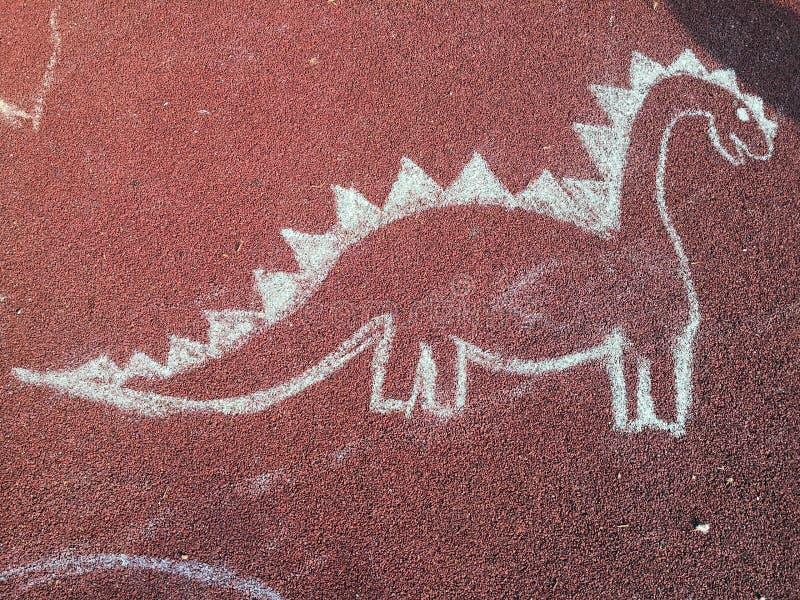 Kindische Tiere weissen Handgezogenen Satz - Dino vektor abbildung