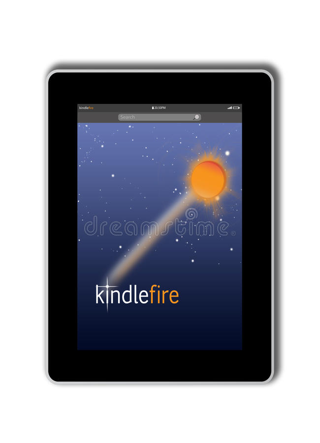 kindle fire from amazon editorial image   image 23136470