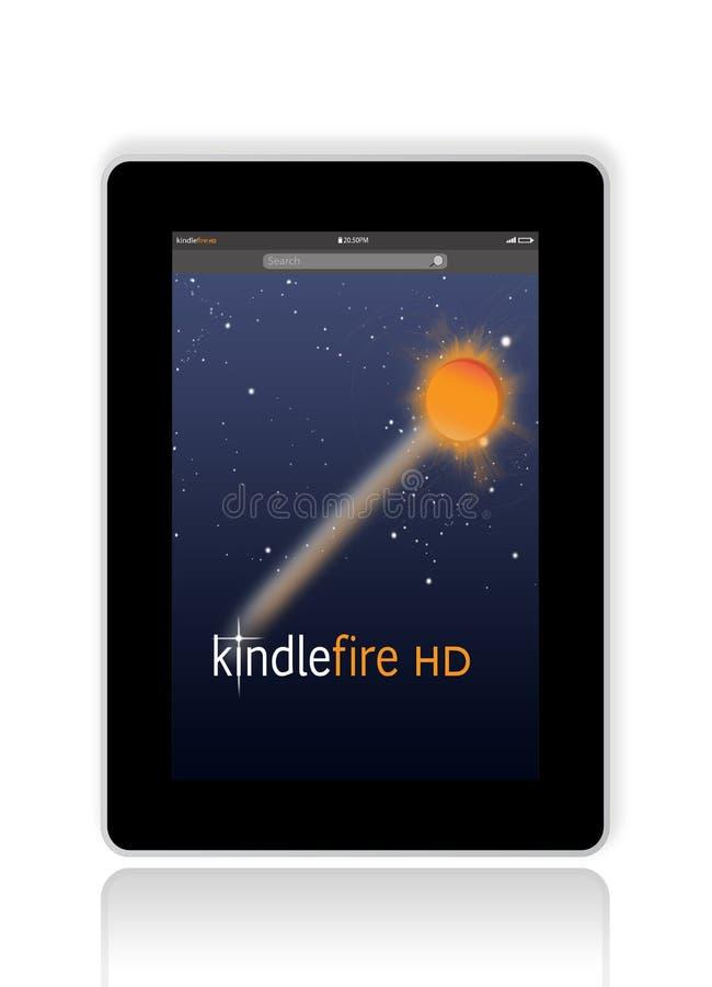 Kindle Fire HD van Amazonië vector illustratie