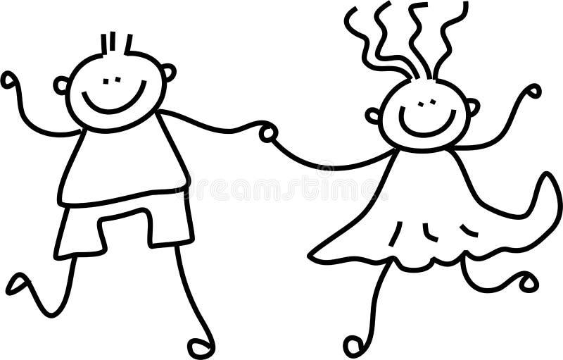 Kindpaare lizenzfreie abbildung