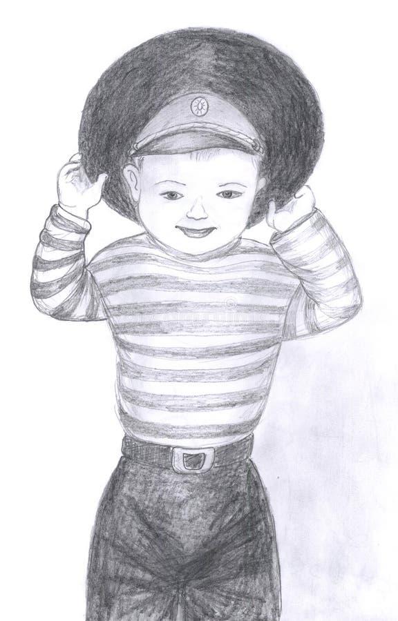 Kindportrait, Skizze lizenzfreie abbildung