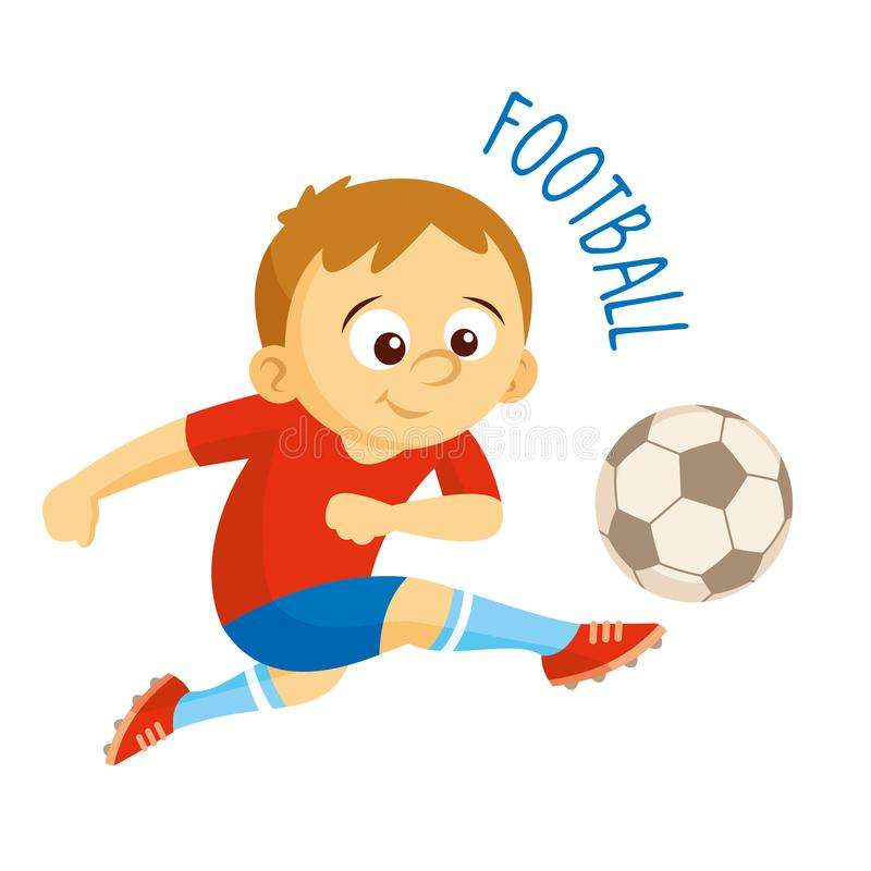 Kinds of sports. Athlete. Football royalty free illustration
