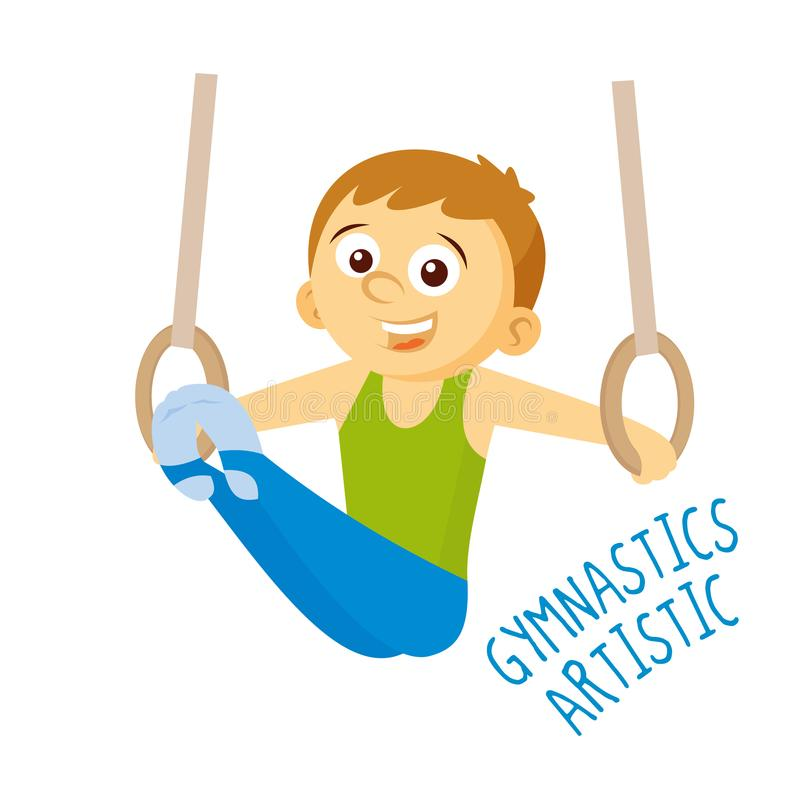 Kinds of sports. Athlete. Gymnastics artistic royalty free illustration