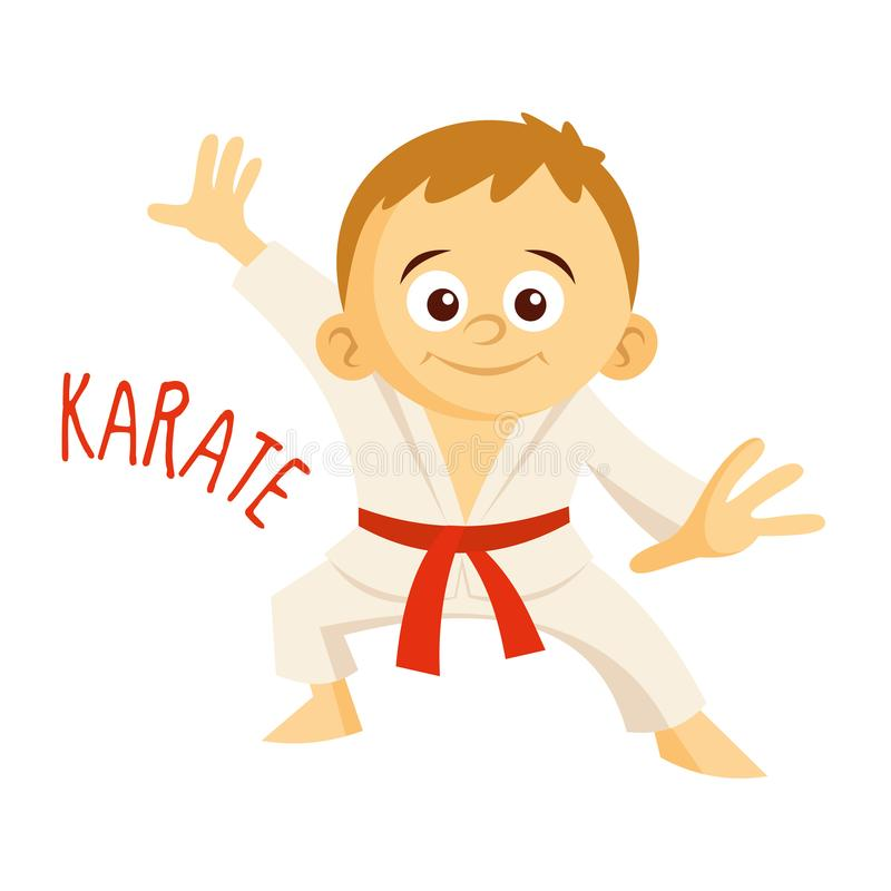 Kinds of sports. Athlete. Karate royalty free illustration
