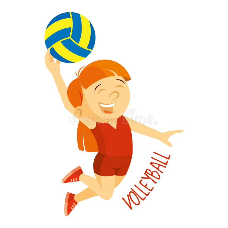 Kinds of sports. Athlete. Volleyball vector illustration