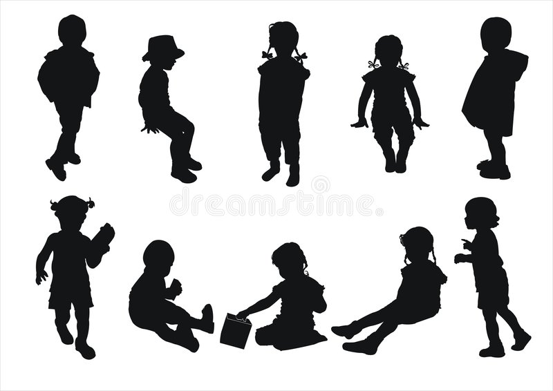 Kindschattenbilder lizenzfreie stockbilder