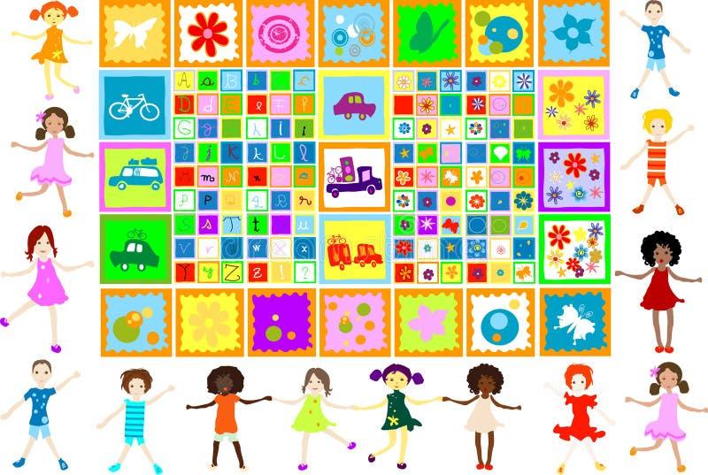 Kindspielen stock abbildung