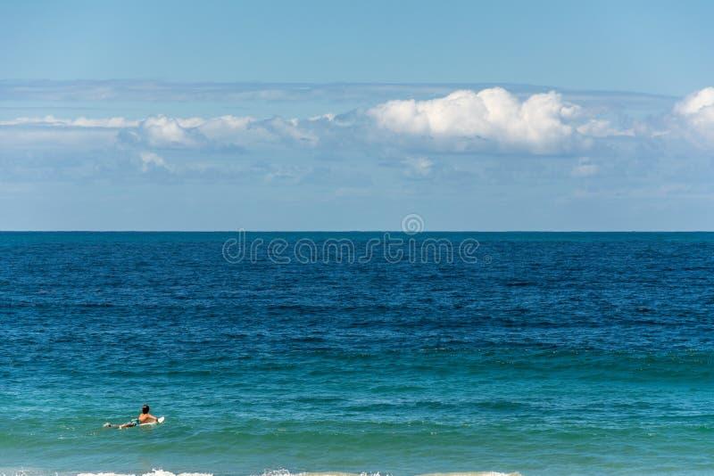 Kindsurfer op een schone en kalme overzees royalty-vrije stock foto