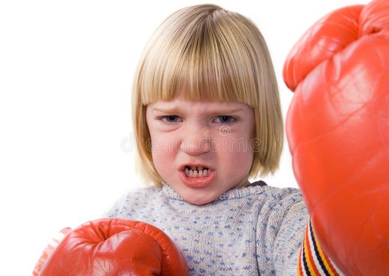 Kindverpacken-Kämpferhandschuhe lizenzfreie stockfotos