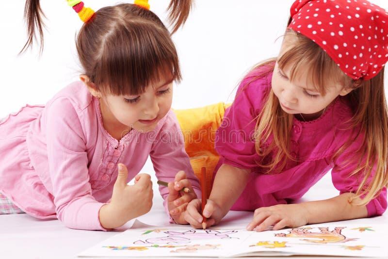 Kindzeichnen stockfoto
