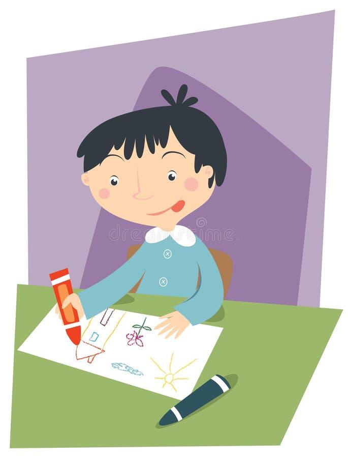 Kindzeichnung stock abbildung