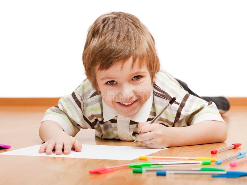 Kindzeichnung oder -schreiben stockfotos