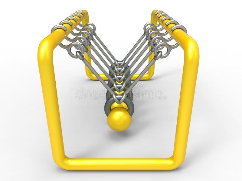 Kinectic klockpendlar royaltyfri illustrationer