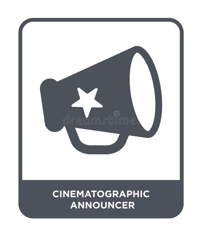 kinematograficzna spiker ikona w modnym projekta stylu kinematograficzna spiker ikona odizolowywająca na białym tle ilustracja wektor