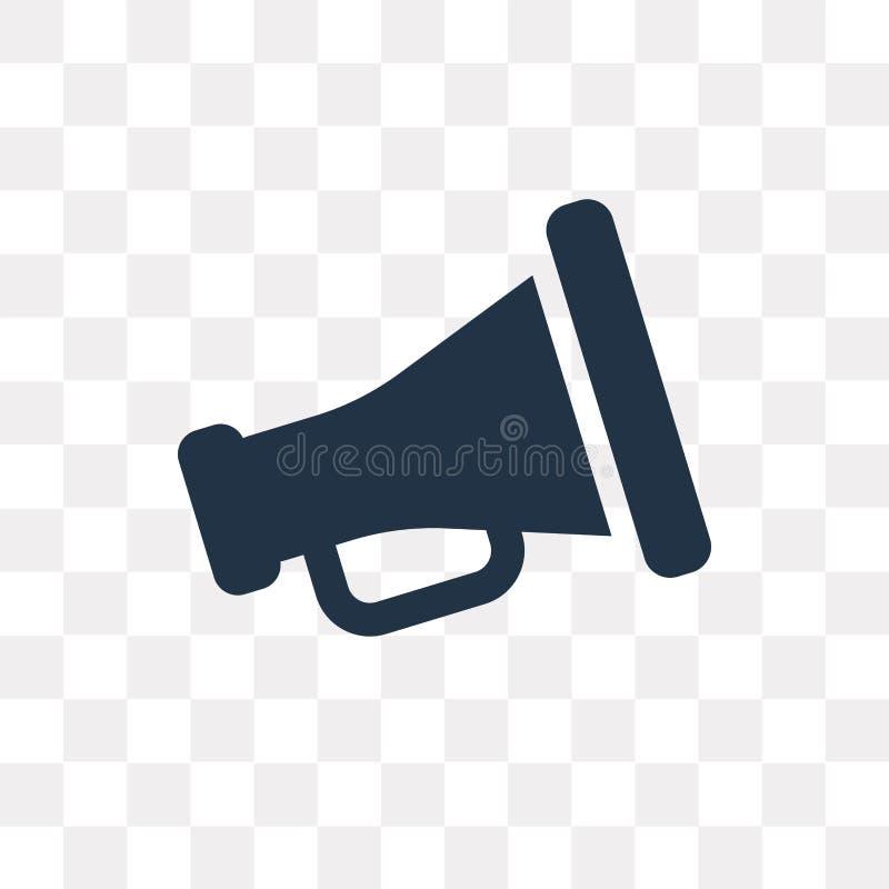 Kinematograficznego spikera wektorowa ikona odizolowywająca na przejrzystych półdupkach ilustracja wektor