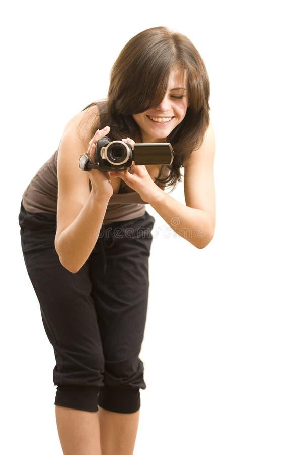 Kinematographs da menina imagem de stock