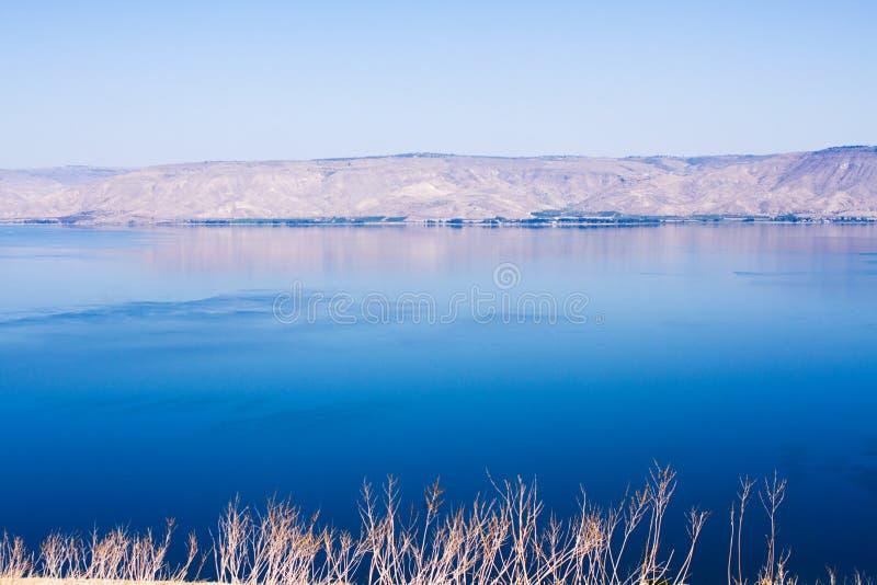 Kineret湖,以色列 图库摄影