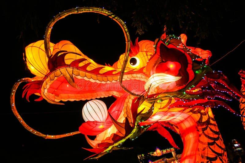 Kines Dragon Lantern fotografering för bildbyråer