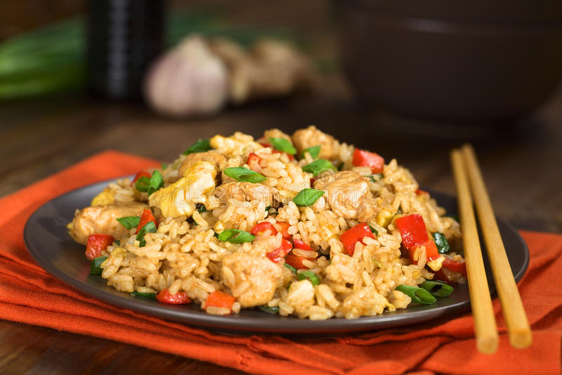 Kines Fried Rice arkivfoton